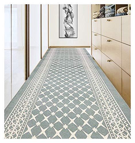 ditan XIAWU Eingangsteppich Zuhause Wohnzimmer rutschfest Gang Kann Geschnitten Werden (Color : Gray, Size : 90x160cm)