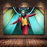 zhuziji Imprimir Arte Huajin Impresiones de Carteles Payaso póster Lienzo de Arte Pintura al óleo Sala de Estar decoración del hogar Pintura de la pared50x70cm(Sin Marco)