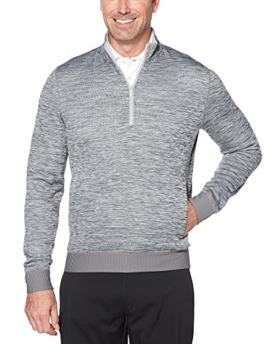 Callaway Men's Water Repellent 1/4 Zip Golf Pullover, Medium Grey Heather, Large