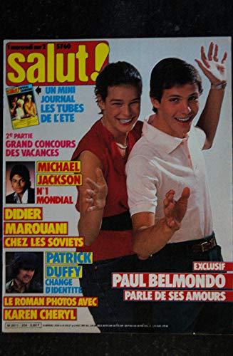 Salut ! 204 1983 PAUL BELMONDO MICHAEL JACKSON KAREN CHERYL DIDIER MAROUAN PATRICK DUFFY