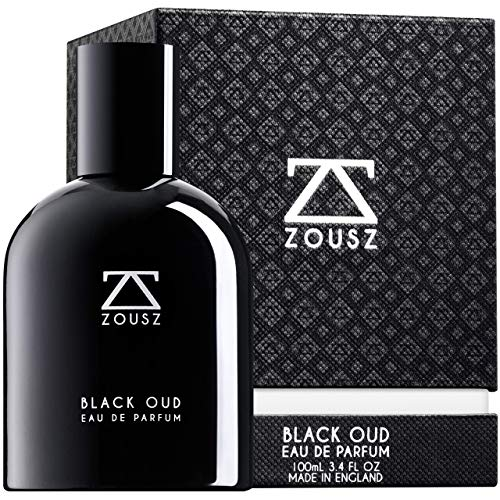 ZOUSZ Perfume Oud Hombre - Perfume con Aceite de Madera de Oud Negro - Spray de Oud Premium con Aromas de Sándalo, Cedro y Pachulí - Productos de Aseo para Hombres - Libre de Crueldad, Vegano 100 mL