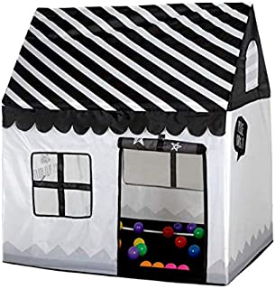 Play Tent Toy Portable Foldable Indoor Outdoor Simulation House Black And White Tent Gifts Toys For Kids Children (Without...