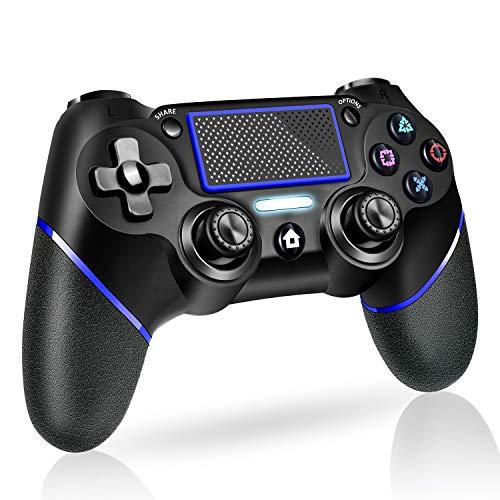 PS4 コントローラー 無線Bluetooth コントローラー PS4 二重振動 重力感応 6軸ジャイロセンサー PS4 ゲームパッド 大容量バッテリー PS4 コントローラー ワイヤレス タッチパッド機能搭載 ヘッドセット端子付き リンク遅延なし 日本語取扱説明書付き