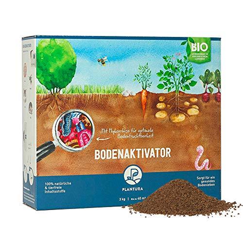 Plantura Bio Bodenaktivator mit 3 Monate Langzeit-Wirkung, staubarmes Granulat, unbedenklich für Haustiere, tierfreundlich, Langzeitdünger