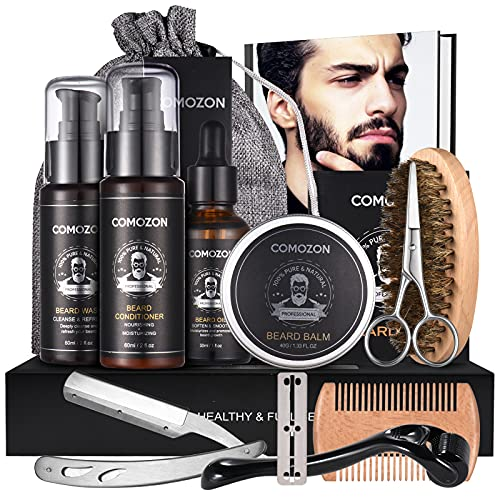 Kit Barbe Homme Complet Contenir Huile Barbe Brosse Barbe Peigne Barbe Soin Barbe Homme Soin Barbe Homme Coffret Cadeau Homme Contient Un Shampoing À Barbe Cadeau Homm Produit Barbe Homme