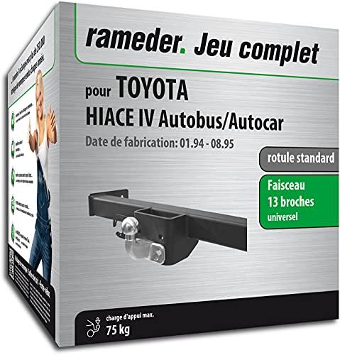 Rameder Pack, attelage rotule Standard 2 Trous + Faisceau 13 Broches Compatible avec Toyota HIACE IV Autobus/Autocar (162773-00541-1-FR).