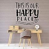 SLQUIET Dies ist Ihre Happy Place Cartoon Wandtattoo PVC Wand Kunst Wohnzimmer Firma Schule Büro Dekorative Wand Dekorative Wand Haus Und Garten Wandaufkleber Grün XL 43 cm X 43 cm