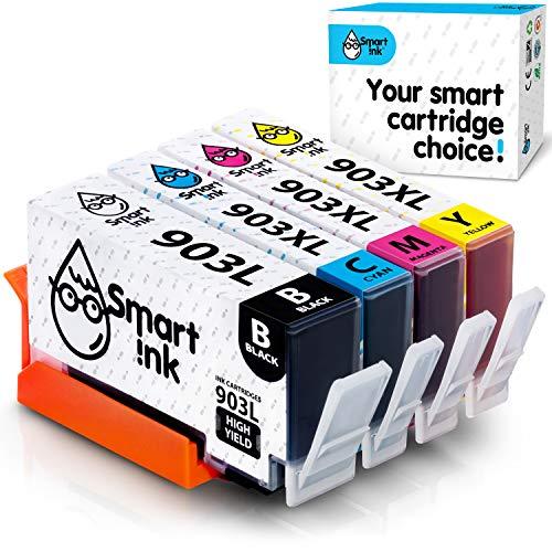 Smart Ink Cartucce Compatibili per HP 903 XL 903XL (BK L &  C M Y 4 Combo Pack) con Tecnologia Chip avanzata per la Ricarica delleOfficeJet 6950 OfficeJet PRO 6960 6970