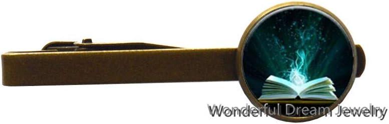 Library Tie Clip - Book Tie Clip - Mini Library Tie Clip - Book Tie Clip - Literary Gift - Book Lover Gift,PU347 (Brass)