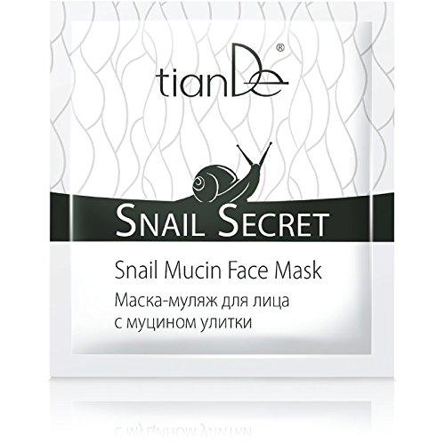 Gesichtsmaske mit Schneckenschleim Tiande 14603 Mit Japanisch Rosebuds Staub , Oat Peptides, Natriumhyaluronat 1St x 10ml