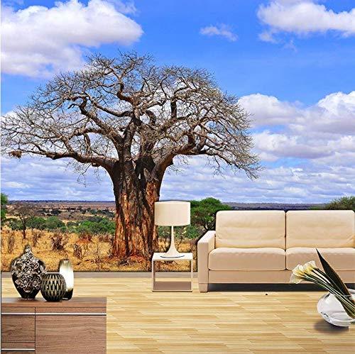 Hbbhbb Baobab Foto Mural Decoración Del Hogar Papel Tapiz Sala De Estar Dormitorio Papel Tapiz 3D-250(H)*350(W) Cm