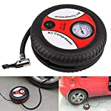 Portable Electric Mini DC 12V Air Compressor Pump for Car and Bike Tyre Tire Inflator| Multicolour