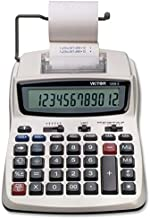 Victor Printing Calculator, 1208-2 Compact and Reliable Adding Machine with 12 Digit LCD..