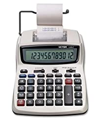 EXTRA LARGE DISPLAY - Extra Large 12 Digit LCD Display FAST & RELIABLE- Equipped with a fast 2.3 lines-per-second ink roller printer ENVIRONMENTALLY FRIENDLY - This calculator is manufactured with 20% Recycled Plastic COST, SELL & MARGIN KEYS - These...