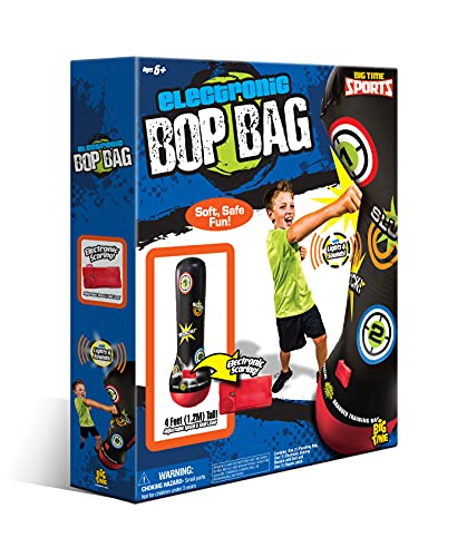 Socker Boppers Electronic Bop Bag by Big Time Toys, Inflatable Punching/Kickboxing Bag withLightsand Sound, Multi