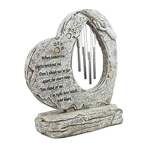 N/A/a Piedra Conmemorativa para Mascotas al Aire Libre, lápida de Gato o Perro, lápida, lápida o Hermoso empaquetado de Mascota Regalo de la comprensión del