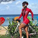 Mujer Ciclismo Jersey Traje de manga larga Ciclismo Jersey Sudadera Triatlón (Color : Kafitt20 61, Size : XXX-Large)