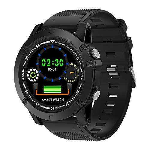 Lixada Reloj Deportivo Digital Inteligente Reloj de presión Arterial Monitor de Ritmo cardíaco Reloj de Pulsera de Actividad física para Hombres IP68 Impermeable