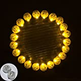 Neo LOONS® 100pcs/lot 100 X Yellow Round Led Flash Ball Lamp Balloon Light long standby time for Paper Lantern Balloon Light Party Wedding Decoration