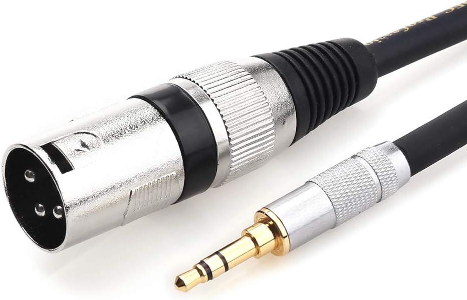 TISINO Cavo adattatore da 3,5 mm a XLR sbilanciato da 1//8 di pollice mini jack stereo a XLR maschio 3.3 feet