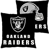Football Team Throw Pillow Covers Pillow Cases Decorative Pillowcase Double Faced Protecter with Zipper Without Insert 1 pcs for Sofa, Car, Office, Bed, Chair (Oakland Raiders)