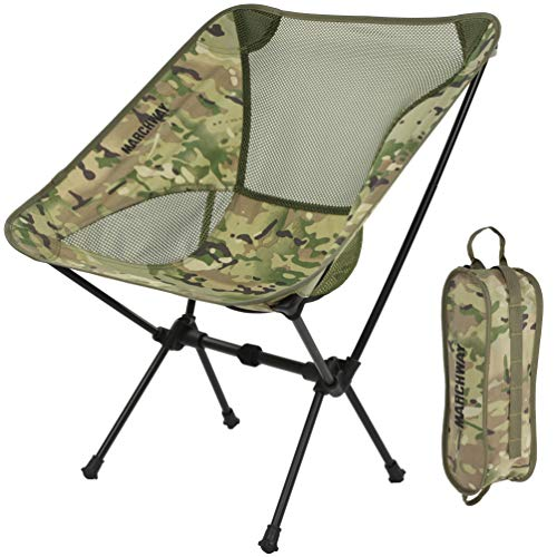 MARCHWAY Ultralight Folding Camping Chair, Portable Compact for Outdoor Camp, Travel, Beach, Picnic,...