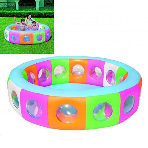 Piscine Gonflable Enfant - Diam.196cm Hauteur 53cm - Multicolore - 120