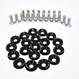 20 PCS XYC Sports Billet Aluminum Fender Washer Engine Bay Dress Up Kit CNC Billet Aluminum Fender Washer Engine Bay Dress Up Kit (Black)