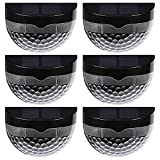 Kaven Solar Fence Post Lights Wall Mount Decorative Deck Light , for Fence Patio & Garden & Pathway , 6 Packs