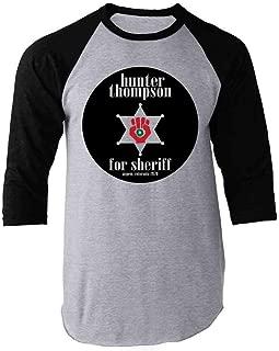 Hunter S Thompson for Sheriff Books Funny Costume Raglan Baseball Tee Shirt