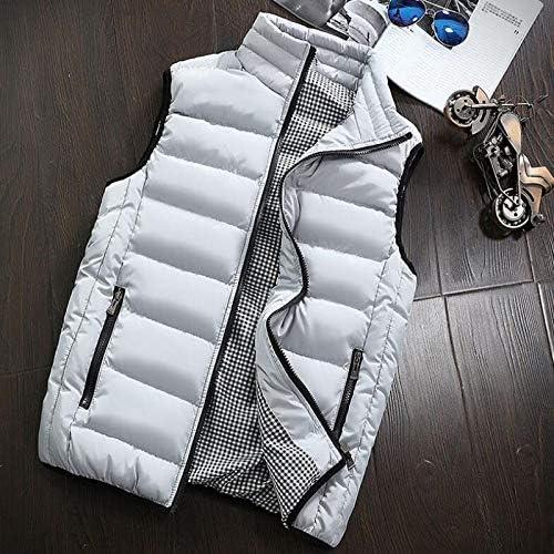 LYLY Vest Women Autumn Winter Vest Men Casual Outwear Warm Sleeveless Jackets Male Fashion Waistcoat 5XL Vests Gilet Vest Warm (Color : Beige, Size : L)