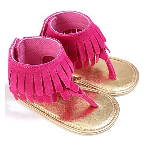 Youpin Baby tofs sandaler skor barn barnvagn spjälsäng sommar första promenaders frans mockasiner skor spädbarn sandaler (baby ålder: 0 6 månader, färg: Rosa)