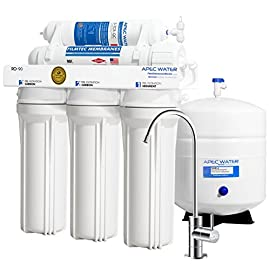 APEC Water Systems RO-90 Ultimate Series Top Tier Supreme Certified High Output 90 GPD Ultra Safe Reverse Osmosis… 1 Enjoy unlimited ultra-fresh, clean, great tasting water right at home. Save money, time and hassle of buying costly, bottled water Designed, engineered and assembled in USA, RO-90 is the most durable system in the industry to guarantee water safety & your health Tested and certified by WQA to remove up to 99% of contaminants including arsenic, chlorine, lead, fluoride, heavy metals, virus and 1000+ contaminants