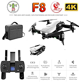 DSstyles F8 Profissional Drone with 4K HD Camera Two-Axis Anti-Shake Self-Stabilizing Gimbal GPS WiFi FPV RC Helicopter Quadrocopter Toys 1 Battery