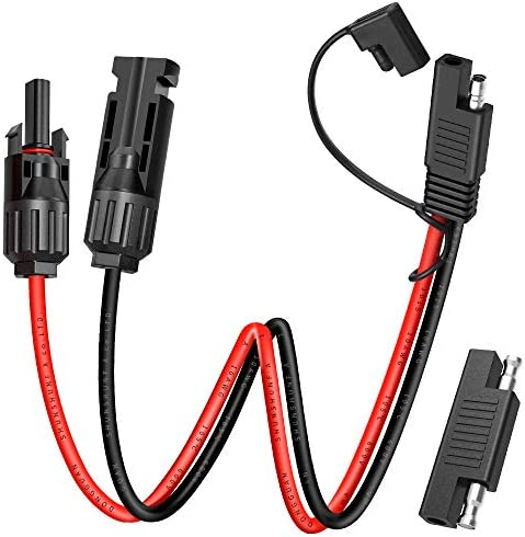 Electop Solar Panel Connector Cable 10AWG SAE Connector to Male Female Solar Connectors Adapter product image