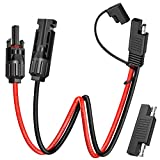 mc4 to sae adapter - Electop Solar Panel Connector Cable, 10AWG SAE Connector to Male & Female Solar Connectors Adapter PV Extension Cable Wire for RV Solar Panel DC Power Battery Charger with SAE Polarity Reverse Adapter