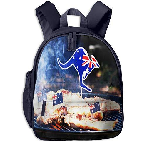 Kinderrucksack Kleinkind Jungen Mädchen Kindergartentasche Australischer Grill Close Up Man Backpack Schultasche Rucksack