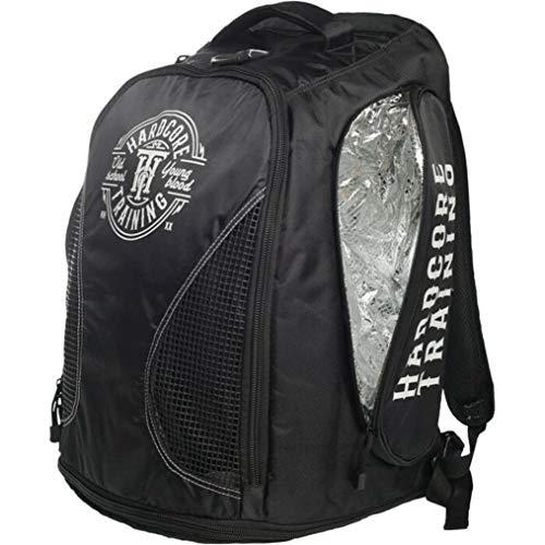 Hardcore Training Black Sport Backpack Bag Rucksack Sporttasche Wandertasche Wanderung Reisen Schwarz