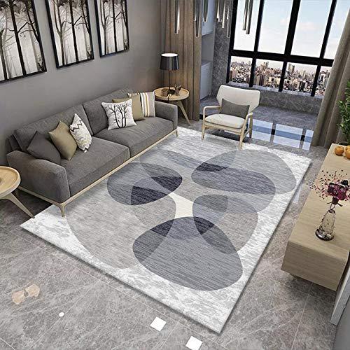 Alfombra moderna para sala de estar, alfombra de pelo largo, suave, suave, para sala de estar, dormitorio, estable, no se desprende de 140 x 200 cm