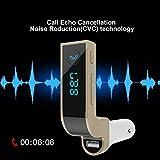 - Realmax® de voiture Bluetooth sans fil Lecteur de musique transmetteur FM chargeur de voiture double USB support SD/TF carte Musique contrôle mains libres pour iPhone Samsung HTC LG Nokia Sony.