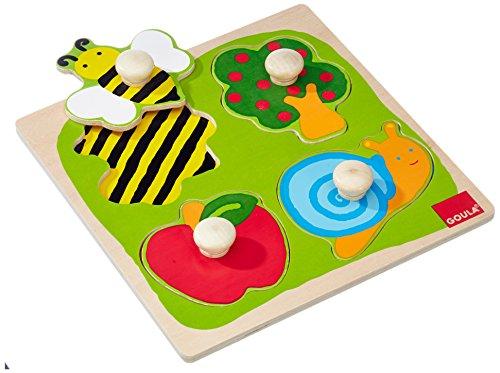 Spielzeug: Puzzle Steckpuzzle Goula Garten