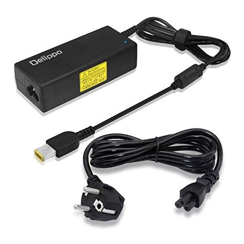 Delippo 45W AC Adaptador Cargador 20V 2.25A Ordenador portátil reemplazo Fuente de alimentación para Lenovo Thinkpad T440 X230 X260 Yoga2 13 S1(Interfaz Cuadrado)[26 Meses de garantía]