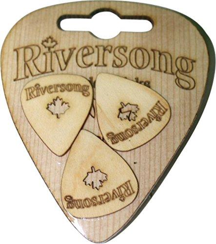 Riversong Gitarren rs-3pak Standard Holz Gitarre Plektrum Plektron Picks, 0,6mm Standard