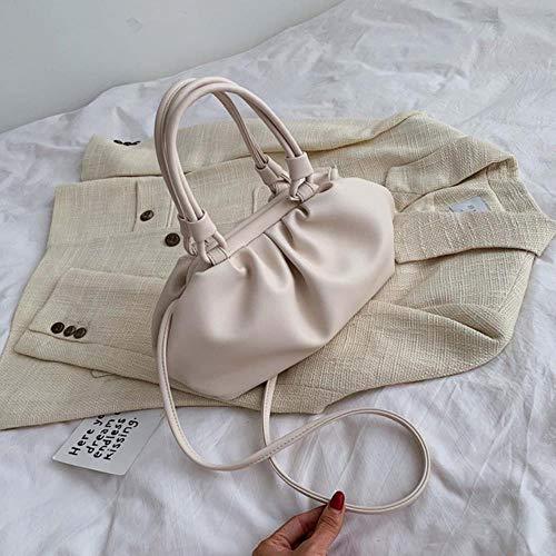 LLine Elegante draagtas voor dames Mode PU-leer Dames Handtas Casual reistas Schoudertas, Wit, 34 X 10 X 16 CM