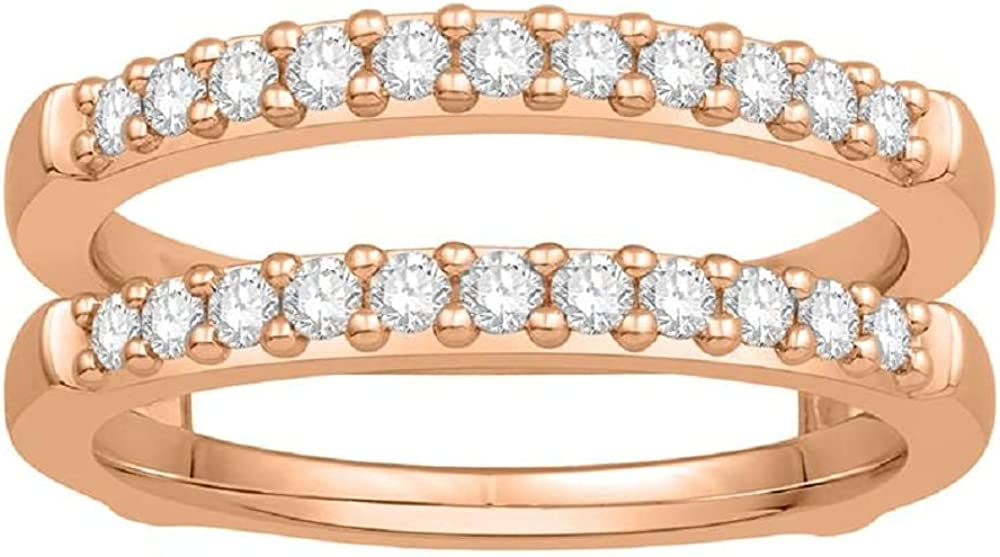 Jewelry Star Max 73% OFF 0.63 Carat Round Cut 10k O Rose Cubic Zirconia Gold OFFicial