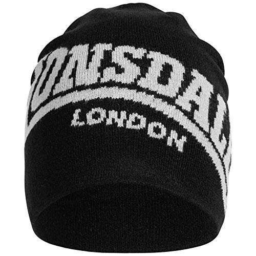 Lonsdale Unisex Beanie Neath, Color:black, Talla:one size