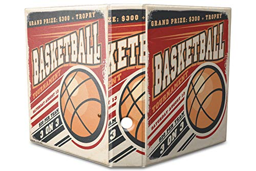 LEotiE SINCE 2004 Motiv Akten Ordner Bedruckt 60mm DIN A4 Basketball