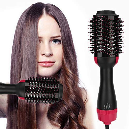 Secador de pelo eléctrico peine, secador de pelo cepillo de aire caliente,...