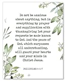 Philippians 4: 6-7 Wall Art - Do Not Be Anxious About Anything - Inspirational Christian Decor - 8x10 - Unframed