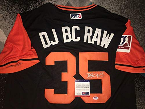 Brandon Crawford Signed San Francisco Giants Jersey Nickname DJ BC RAW PSA/DNA - Autographed MLB Jerseys